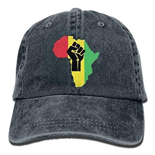 Rundafuwu Gorras de béisbol/Hat Trucker Cap Gorras de béisbol Hats African Roots Black Power Piece.PNG Unisex Adult Jeans Dad Cap Adjustable Unique Personality Cap