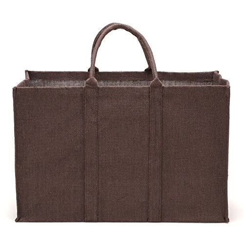 La cordeline Sac Multi-Usages en Jute Petit Format 55 X 35 X 25cm 48L Couleur Chocolat S/Gaine Cartonnée, 55 x 25 x 35 cm