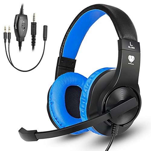 Greatever Stereo Gaming Headset for PS4 Xbox One, Professional 3.5mm Bass Over-Ear Headphones with...