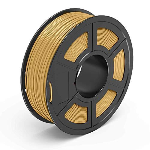 ABRUS - PLA Filament, 3D Printing Filament 1.75mm, for 3D Printer 1KG Spool Various Colours (Light Gold)