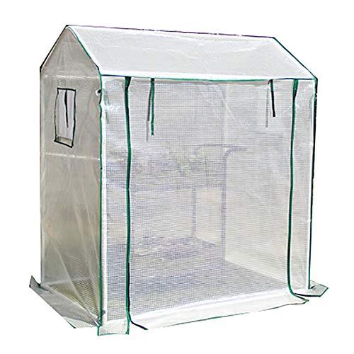 LQQ Invernadero Invernadero Grande con 2 Ventanas, Invernadero de Exterior, Cubierta de PE Blanco, Anticongelante Plantas Impermeables Invernadero