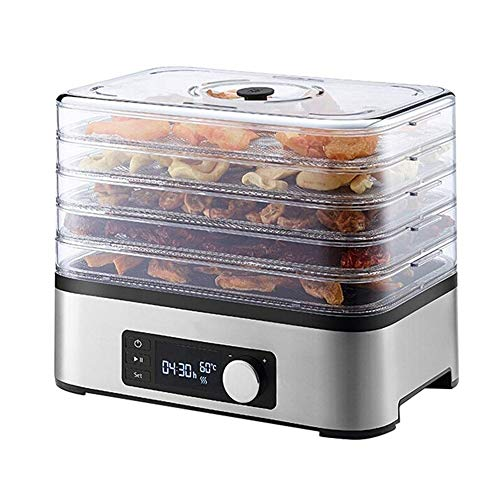 Great Deal! SMLZV Dehydrator,Multi Tier Food Preserver,Smart Timing,5 Tier Large Capacity Food Dryer...