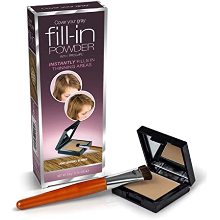 Cover Your Gray Fill in Powder, One Size, Light Brown (Pack of 3)