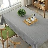 marca blanca Tischdecke Schwere Vintage Sackleinen Baumwolle Tischdecken für...