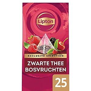 Lipton Selección Exclusiva Té Negro Frutos del Bosque, Caja con 25 sobres