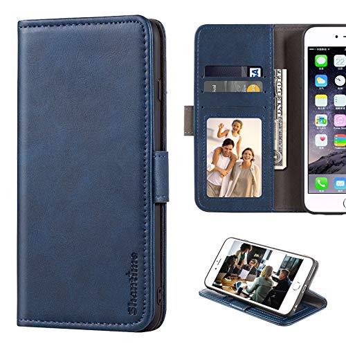 Wiko Power U30 Hülle, Leder Wallet Hülle mit Bargeld und Kartenfächer Soft TPU Back Cover Magnet Flip Hülle für Wiko Power U30