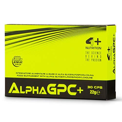 4 Sport Nutrition Alpha GPC + Paquete de 1 x 30 Cápsulas Alfa Glicerilfosforilcolina - Colina