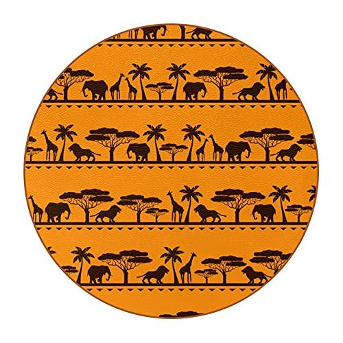 Posavasos de copa grande Africa Ethnic Wild Animal Print4.7.6 cm, antimanchas, cristal antiarañazos y antideslizante, un juego de 6 absorbentes