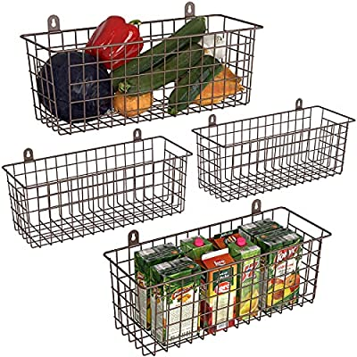 Amazon - 50% Off on Wire Basket 4-Pack Hanging Wall Organizer Cabinet
