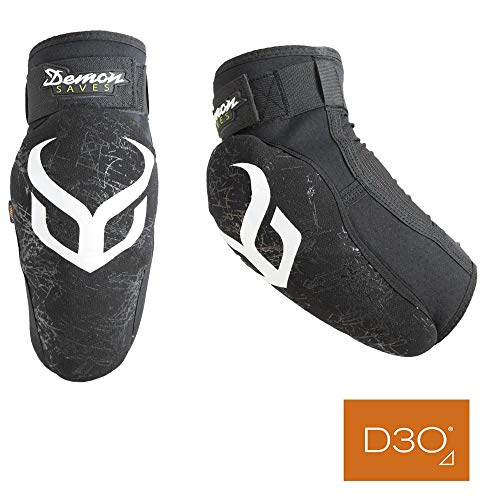 DEMON UNITED Hyper X D3O Elbow Pads- Mountain Bike Elbow Pads w/ D30 Impact Technology (Large)