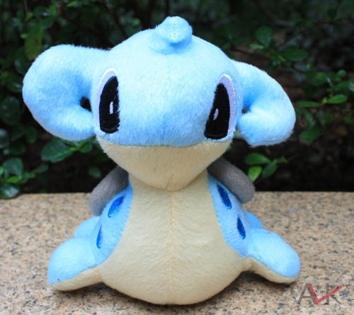 "Pokemon Pokémon Plush Lapars Doll Around 15cm 6"" Blue, Free"
