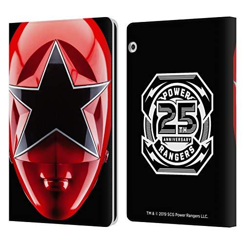 Head Case Designs sous Licence Officielle Power Rangers Rouge Zeo Casque célèbre Coque en Cuir à Portefeuille Compatible avec Huawei MediaPad T3 10