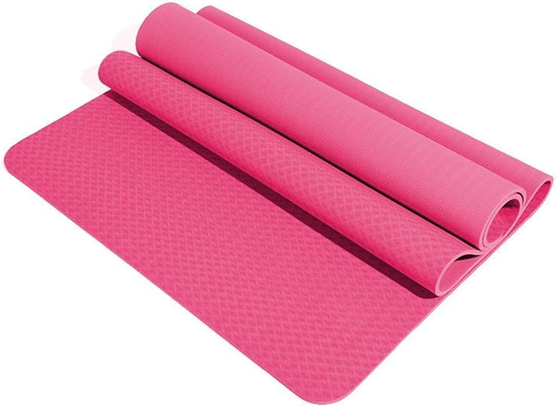 KYCD Fitness-Matte, Anfnger-Damen Rutschfeste Yogamatte Verbreitert Verdickung übungsmatte Bodenmatte Zu Hause 183 × 80 cm, Dicke 10 Mm