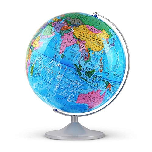 32cm Illuminated AR Globe Physical Political Dual Map Light up Globe Fun and Interactive Augmented Reality for Kids Home Decoration and Office Desktop