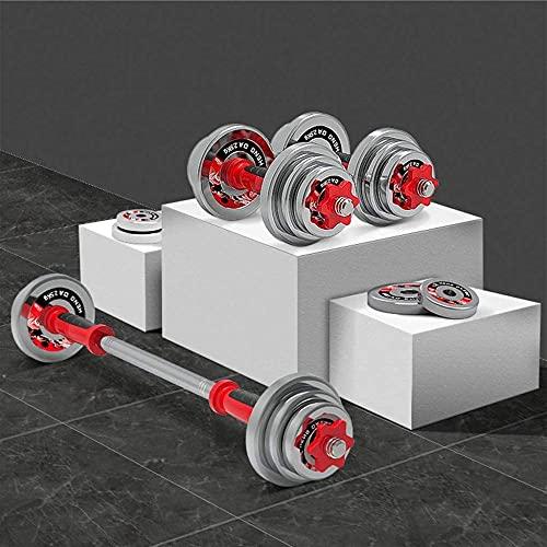 Entrenamiento 20 kg Mancuernas galvanizadas de Acero Puro Peso Ajustable Barbell Home Fitness Máquina de la máquina (10 kg × 2) Entrenamiento