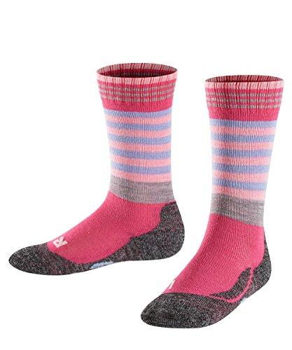 FALKE Kinder Socken Frog, Wollmischung, 1 Paar, Rosa (Priemel 8551), Größe: 39-42