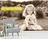 Vlies Tapete Poster Fototapete mit Wunschmotiv eigenes Foto Bild Motiv Farbe sepia, Größe 140 x 100 cm