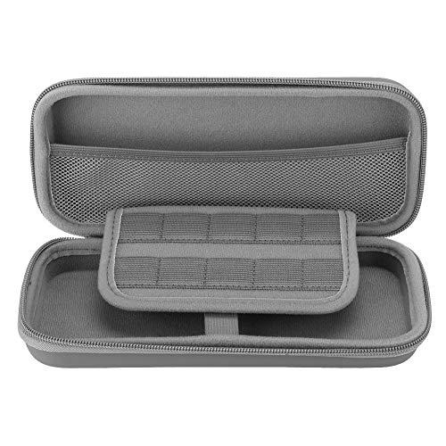 Bolsa protectora de material EVA actualizada, a prueba de polvo, bolsa de almacenamiento de consolas de juegos resistente con doble cremallera para Nintendo Switch Lite consola de juegos (todo gris)