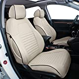 EKR Custom Fit Full Set Car Seat Covers for Select Honda CRV 2017 2018 2019 2020- Leatherette (Beige)