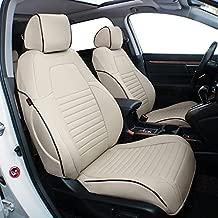 EKR Custom Fit Full Set Car Seat Covers for Select Honda CRV 2015 2016 - Leatherette (Beige)
