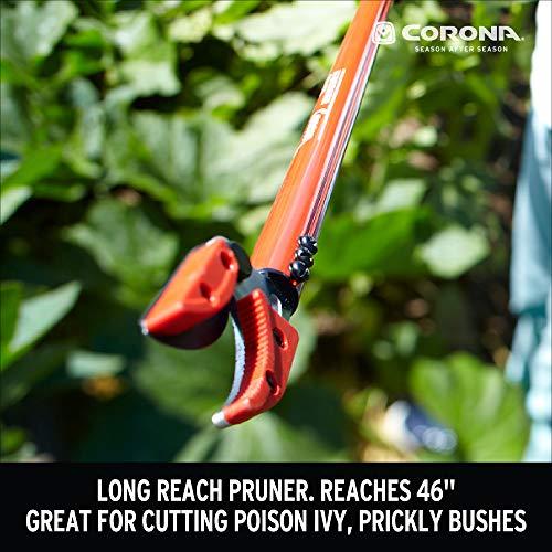 Corona LR 3460 Long Reach Cut 'n' Hold Pruner, 46-Inch, Red