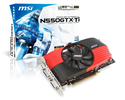 MSI NVIDIA GeForce GTX 550 Ti Grafikadapter (PCI-e, 1GB GDDR5 Speicher, Dual-DVI, HDMI)