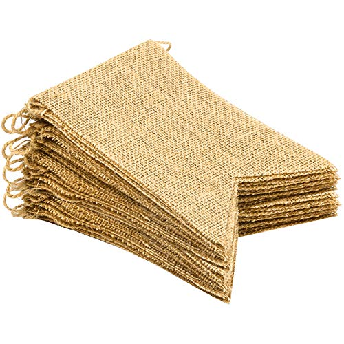 Purture 20Pcs Burlap Banner, 14.5 Ft Swallowtail Flag, DIY Hand Painted Decoration for Holidays, Camping, Wedding and Party, Shipping by FBA