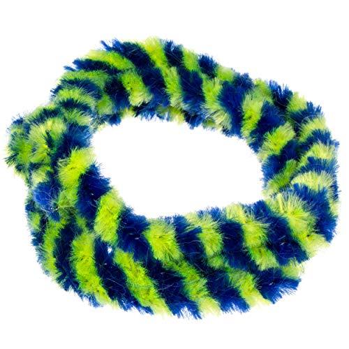 Nabenputzringe WÜMA blau/neon SET (vorne & hinten) für SIMSON-Nabe 168mm, 560mm lang
