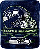 The Northwest Company Officially Licensed NFL Seattle Seahawks Prestige Plush Raschel Throw Blanket, 60' x 80', Multi Color