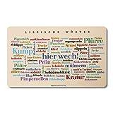Tagcloud mit der Mundart aus dem Lipperland - Tabla para desayuno, diseño de lippische Wörter Una original y hermosa idea de regalo