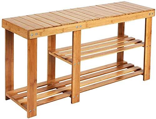 Estante de Zapatos del bambú Natural para el Organizador de Zapatos de Almacenamiento, Soporte para la Entrada, el Pasillo y el Dormitorio,