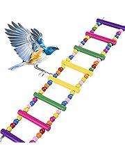 LQKYWNA Loro Escalera Bolas De Madera Que Sube La Escala Pigmentos Comestibles Escalada Escalera Puente Derecho De Juguete para Parakeet De Budgie Cacatúas Jaula De Pájaro