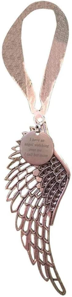 Brother Christmas Ornaments Angel Wings I Have an Angel Watching Over Me Christmas Tree Hanging Ornament Pendants Home Party Gift Tree Baubles for Memorial Remembrance Loved Ones