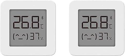 Temperatura y Humedad, para Mijia Bluetooth Sensor de Temperatura de Humedad con Pantalla LCD de Baja Potencia Bluetooth Pegatina de pared, Blanco