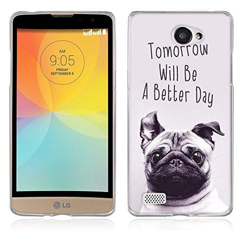 FUBAODA für LG Bello 2 Hülle, [Hund] Künstlerische Malerei-Reihe TPU Case Schutzhülle Silikon Case für LG Bello 2 Prime II
