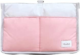Stroller Organizer Stroller Bag Multiple Pockets Extra Large Capacity Large Storage Space (Pink)