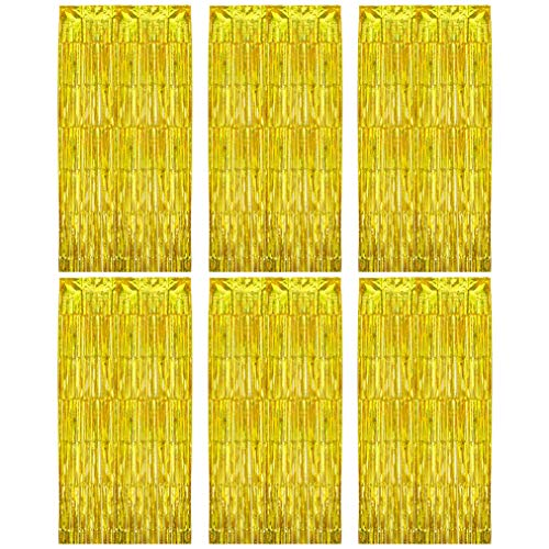 baotongle 2 Stücke Quaste Folie Vorhang Metallic Lametta Vorhänge Dekoration Glitzer Folie Fransen Vorhänge Tür für Party Deko Hochzeit Geburtstag Weihnachten