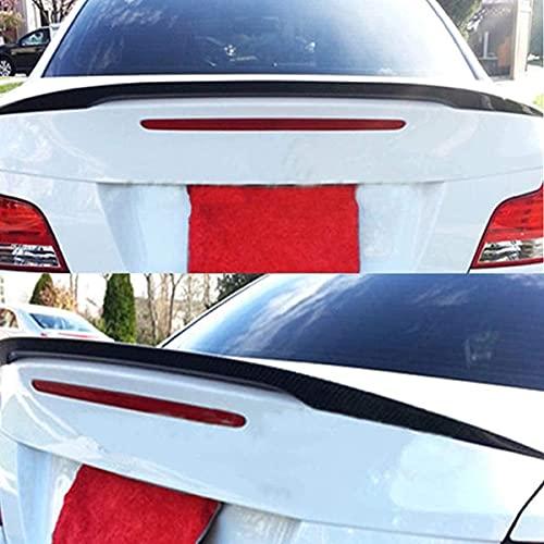 SIOM Ajuste para BMW E82 1Er Maleta Abs Tronco Tapa De Labios Spoiler M Sport Matt Black Exterior Techo ala Tronco Labios Accesorios Tiras De Spoiler De Labios