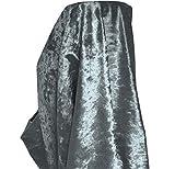 A-Express Premium Morbida Velluto Schiacciato Tessuto Materiale Tenda Cuscino Sartoria 140cm Larghezza - Mezzo Metro 50cm x 140cm Grigio Acciaio