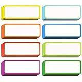 40 piezas Etiquetas Magnéticas de Borrado en Seco Etiquetas de Placa de Identificación Etiquetas Magnéticas Flexibles para Pizarras Artesanales de Refrigerador (Color B, 3.2 x 1.2 pulgadas)