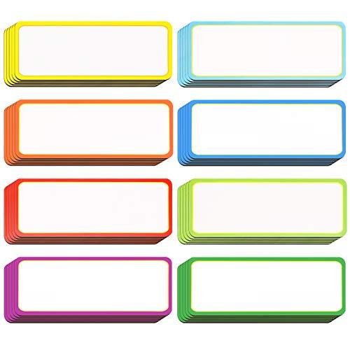 40 Stücke Magnetisch Trocken Löschen Etiketten Namensschild Tags Flexible Magnetisch Etiketten Aufkleber für Whiteboards Kühlschrank Handwerk (Farbe B, 3,2 x 1,2 Zoll)