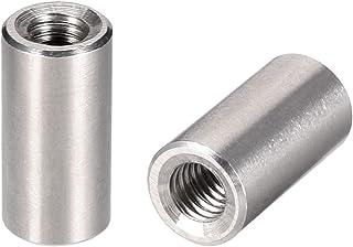 uxcell ラウンドカップリングナット スリーブロッドバースタッドナット 304ステンレス鋼 高さM6x20mm 10個入り