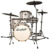 Sawtooth Command Series 4-Piece Drum Set Shell Pack with 18' Bass Drum, White Oyster