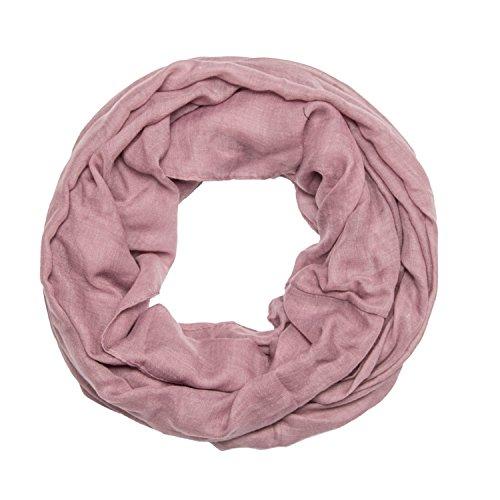 MANUMAR Loop-Schal für Damen einfarbig | feines Hals-Tuch in lila als perfektes Herbst Winter Accessoire | Schlauch-Schal | Damen-Schal | Rund-Schal | Geschenkidee für Frauen und Mädchen
