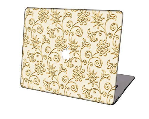 Laptop Case for MacBook Air 13 inch Model A1369/A466,Neo-wows Plastic Ultra Slim Light Hard Shell Cover Compatible MacBook Air 13 Inch No Touch ID,Golden A 9