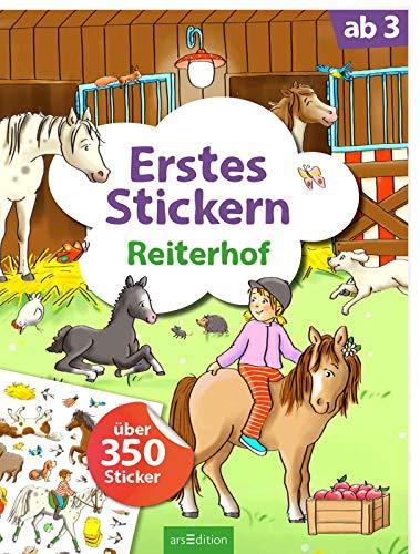 Erstes Stickern Reiterhof: Über 350 Sticker | Erstes Stickerheft für Kindergarten-Kinder ab 3 Jahren