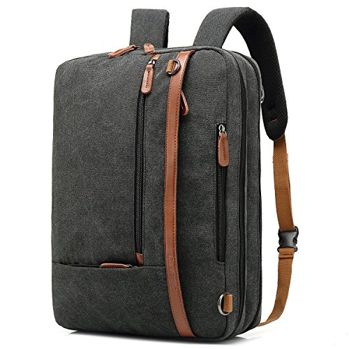 CoolBELL umwandelbar Aktentasche Rucksack Messenger Bag 17,3 Zoll Laptoptasche Herren...