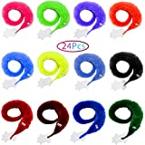 'N/A' Shyflpopo 12-72 Pcs Magic Worms Toys Worm on a String bulkfor Carnival Kid Party Favors,Halloween Party Decoration,Prank Toys, and Party Favors for Kids,Wiggly Twisty Fuzzy Worm Toys (24PCS)