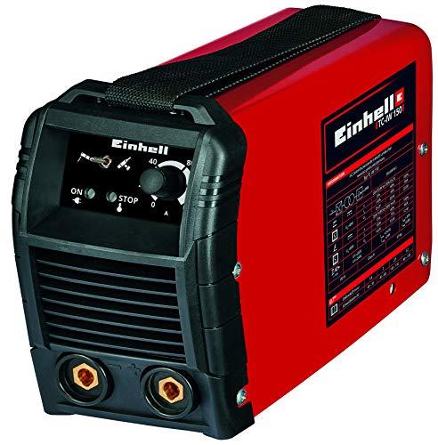 Einhell Inverter-Schweißgerät TC-IW 150 (Schweißstrom 20-130 A, WIG-Schweißen 20-150 A, stufenlos regelbarer Schweißstrom, Thermowächter, Anti-Stick-Funktion, inkl. Massenklemme, Elektrodenhalter)