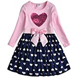 VIKITA Kid Girl Embroidery Dress Long Sleeve LH5740 7T